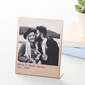 Personalised Solid Copper Polaroid Print - gifts for men