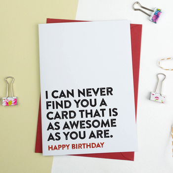 Funny Birthday Card As Awesome As You Are