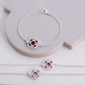Hugs And Kisses Birthstone Bracelet - bracelets & bangles