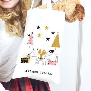 Personalised Scandi Christmas Bag 'Fox' - wrapping