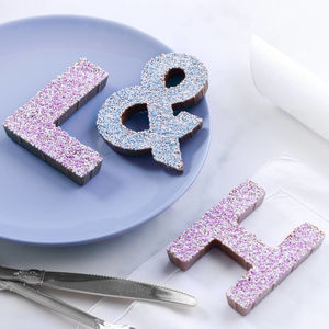 Sprinkle Chocolate Letters