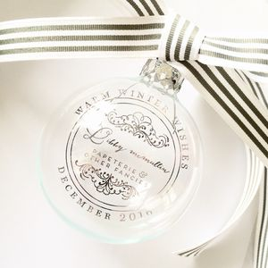 Company Logo Personalised Glass Bauble