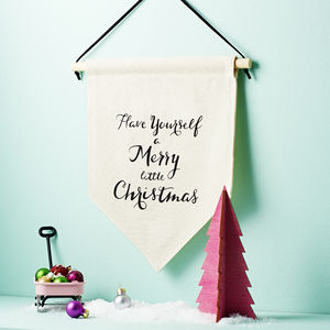 'Merry Little Christmas' Banner Sign - shop by price