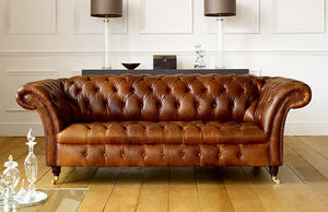Barrington Vintage Leather Chesterfield Sofa