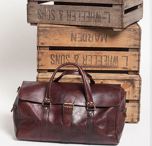 Sheriff Leather Travel Bag - holdalls & weekend bags