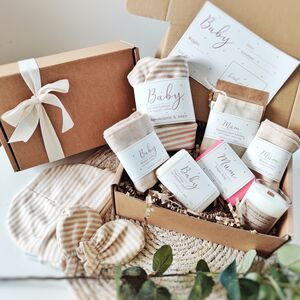 Personalised Mum And Baby Organic Vegan Gift Set