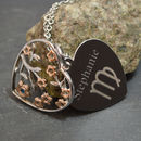 Engraved Tree Of Life Pendant With Birthstone