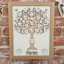 Personalised Framed Wooden Retirement Gift Tree