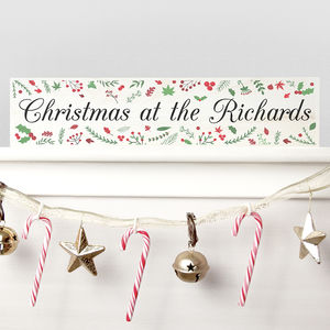 Personalised Festive Christmas Mantle Decoration - christmas parties & entertaining