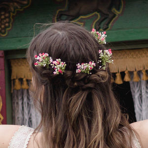 Piper Gypsophila Hair Pin - wedding fashion