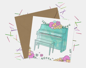 Piano Birthday Card - birthday cards