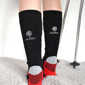 Personalised Women's Snowflake Ski Socks - gifts for skiers