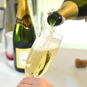 Personalised Champagne Flute With Engraved Name