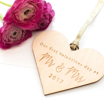 'First Valentine's As Mr And Mrs' Love Token