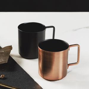 Copper And Black Espresso Mugs - on trend: copper