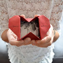 Origami heart keepsake with one photograph