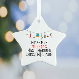 First Married Christmas Tree Decorations
