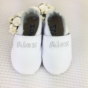 Personalised Iridescent Christening Shoes