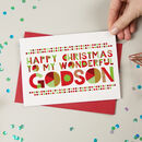 Wonderful Godson Christmas Card