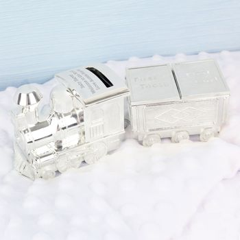 Personalised Train Money Box/Tooth Trinket Box