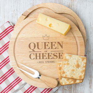 Personalised Cheese Board For Her - home sale