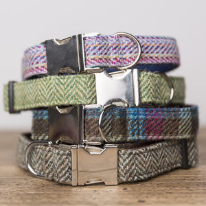 Harris Tweed Dog Collar - dog collars