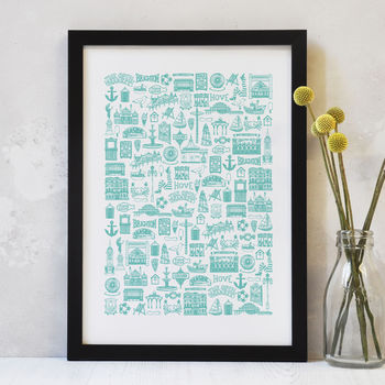 Illustrated Brighton Colour Print