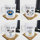Personalised Rad Dad Fathers Day Mug
