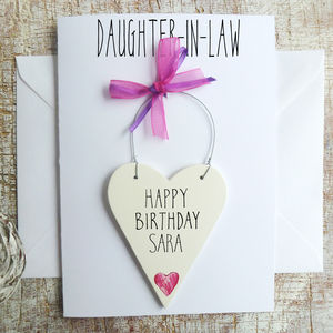Daughter In Law Personalised Birthday Card