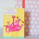 Happy Birthday Flamingo's Card