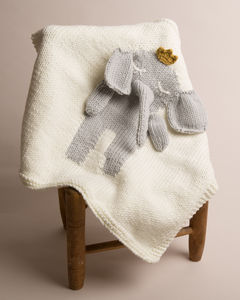 Hand Knitted Elephant Blankets - shop by recipient