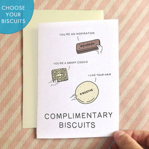 Personalised Complimentary Biscuits Card