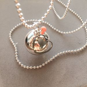 Pregnancy Chime Necklace With Heart Charm And Pearl - necklaces & pendants