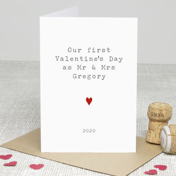 Personalised Newlyweds Valentine's Day Card