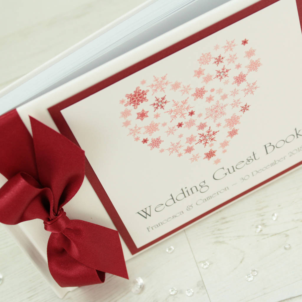 personalised ice wedding guest book by dreams to reality design ltd ...
