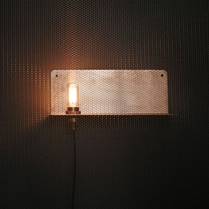 Wall Mounted Metal Shelf Lamp - wall lights