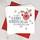 Pack Of Ten Wobbly Eyes Christmas Cards