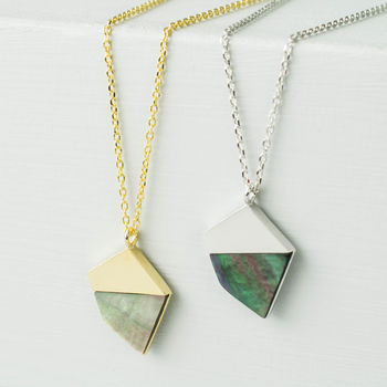 Geometric Mother Of Pearl Necklace