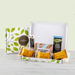 Salted Caramel And Nougat Vegan Chocolate Gift Box - chocolates & confectionery