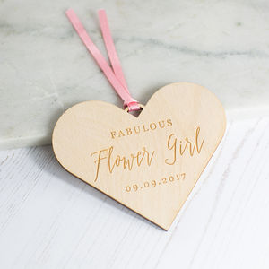 'Fabulous Flower Girl' Personalised Gift - to say thank you