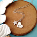 Initial Heart And Star Necklace