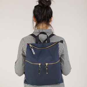 Rambler Rucksack In Waxed Cottons