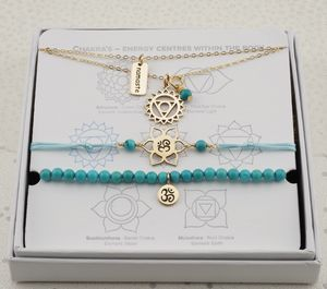 Throat Chakra Jewellery Set In Gold Or Silver