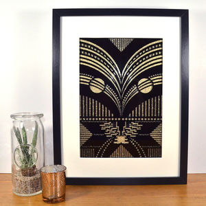 Contemporary Art Deco Inspired Avian Laser Cut
