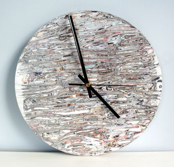 Handmade Sustainable Newspaper Clock