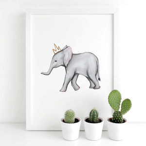 Elephant Animal Nursery Print
