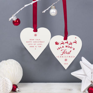 Personalised Baby's First Christmas Bauble - baby's first christmas