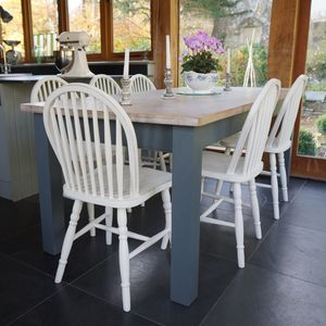 Beckford Table With Hoop Back Chairs Hand Painted - furniture