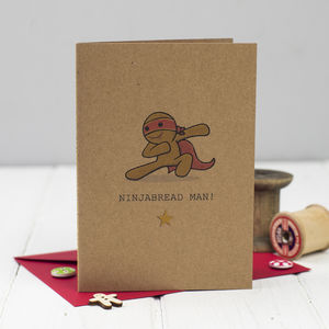 Ninjabread Man Christmas Card - shop by category
