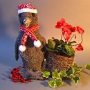 Christmas Penguin Planter